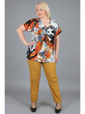 Блузка NadiN. Цвет: черный, оранжевый