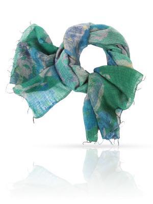 Палантин MICHEL KATANA`. Цвет: синий, зеленый, светло-желтый