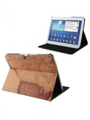 Обложка skinBOX maps case для планшета Samsung P5200. выполнена из качественной экокожи.. Цвет: коричневый