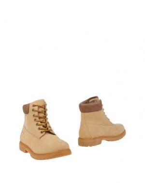 Полусапоги и высокие ботинки SAX. Цвет: бежевый