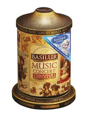 Чай Basilur Муз. шкатулка Рождественская Music concert Christmas. Цвет: бронзовый, коричневый