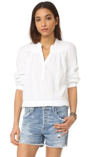 Блуза Alyx из газовой ткани XIRENA. Цвет: белый