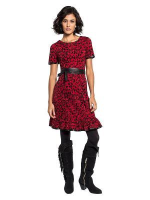 Платье APART. Цвет: красный, черный