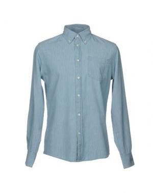 Джинсовая рубашка DEPERLU. Цвет: небесно-голубой