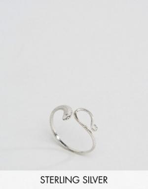 Kingsley Ryan Серебряное кольцо в виде змеи. Цвет: серебряный