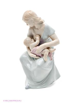 Фигурка Девушка с младенцем Pavone. Цвет: светло-зеленый, бежевый