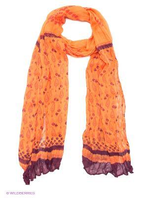 Платок Passigatti. Цвет: оранжевый, сливовый