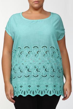 Блузка LA VELINA. Цвет: ментоловый