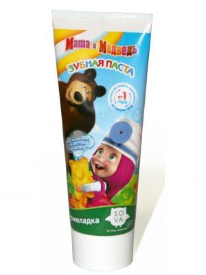 Детская зубная паста-гель Мармеладка (от 1 до 6 лет без фтора) Маша и медведь. Цвет: зеленый