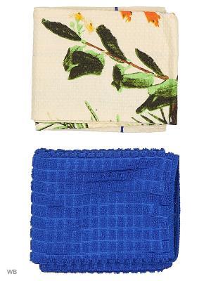 Набор кухонных полотенец - 2шт. (38*64) Dorothy's Нome. Цвет: синий