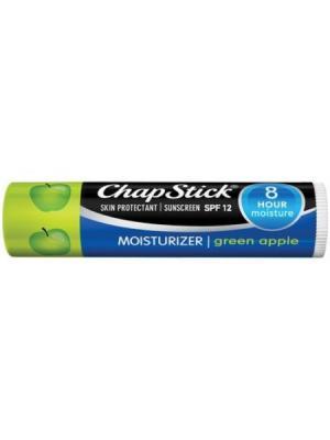 Chapstick Moisturizer Green Apple Lip Balm SPF12. Бальзам для губ Зеленое яблоко. Цвет: прозрачный