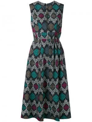 Расклешенное платье с принтом Hache. Цвет: многоцветный