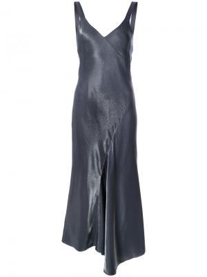 Платье Liquid Viscose Amoret Bias Tibi. Цвет: синий