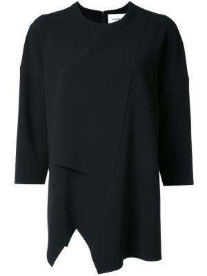 Асимметричная блузка Enföld. Цвет: чёрный