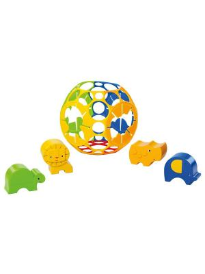 Развивающая игрушка - сортер Приключения в джунглях Oball. Цвет: желтый, зеленый, синий