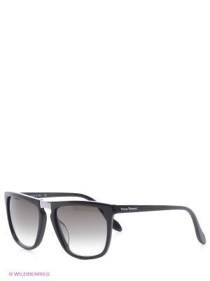 Солнцезащитные очки VW 821S 01 Vivienne Westwood. Цвет: черный
