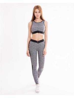 Комплект одежды: топ, легинсы Mark Formelle. Цвет: черный, серый