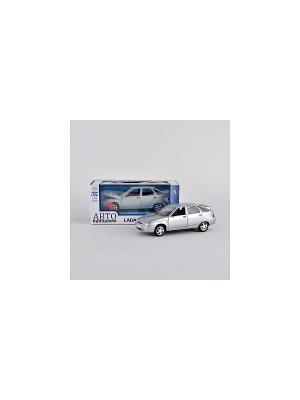 Машинка ВАЗ 2112 АВТОПАНОРАМА. Цвет: серебристый, черный