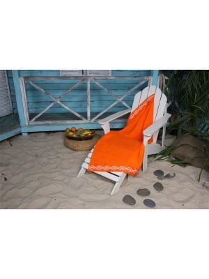 Полотенце плжное WAFFLE СПА 90*160 цв. оранжевый TOALLA. Цвет: оранжевый