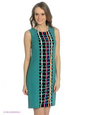 Платье SAVAGE. Цвет: бирюзовый, фуксия, черный