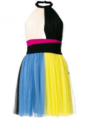 Мини-платье с панельным дизайном Fausto Puglisi. Цвет: многоцветный