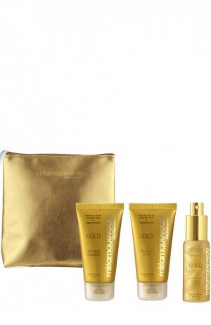 Золотой набор для путешествия  Sublime Gold Deluxe Miriamquevedo. Цвет: бесцветный