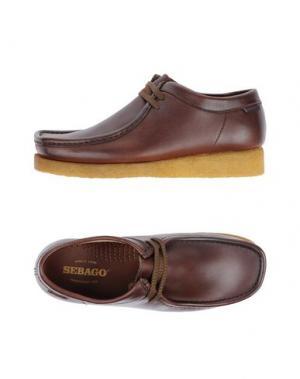 Обувь на шнурках SEBAGO. Цвет: какао