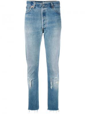 Raw hem jeans Re/Done. Цвет: синий