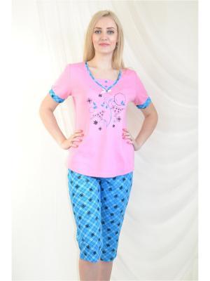 Пижама Miata. Цвет: бледно-розовый, голубой