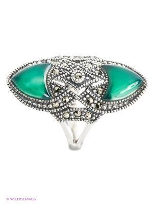 Кольцо МАРКАЗИТ. Цвет: зеленый, серебристый