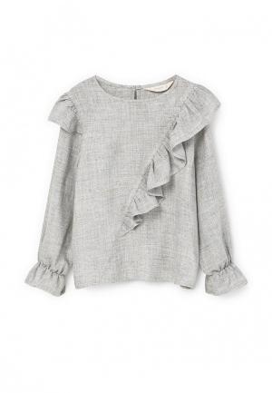 Блуза Mango Kids. Цвет: серый