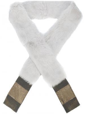 Шарф из кроличьего меха Laura B. Цвет: серый