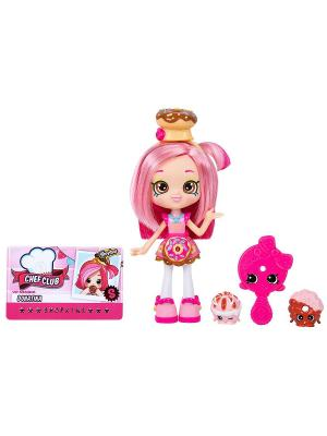 Кукла Shoppies  Кулинарный клуб Donatina Moose. Цвет: розовый