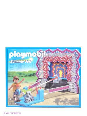 Парк Развлечений Аттракцион Сбей банки Playmobil. Цвет: голубой