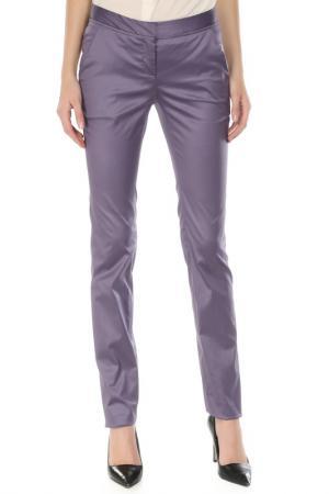 Прямые брюки с карманами Costume National. Цвет: 624, сиреневый