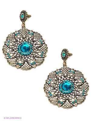 Серьги Art Silver. Цвет: серебристый, голубой