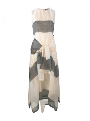 Длинное платье с завязкой Sportmax. Цвет: чёрный