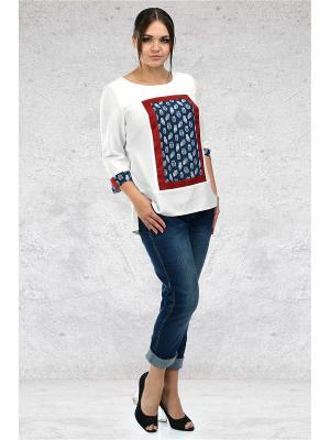 Блуза Мари-лайн. Цвет: белый, красный, синий
