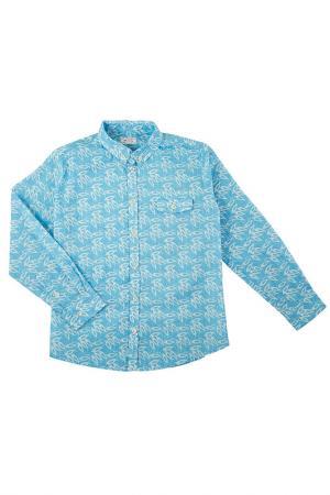 Рубашка MORLEY. Цвет: голубой