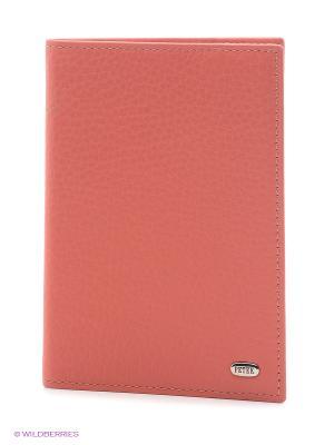Обложка на паспорт Petek. Цвет: коралловый