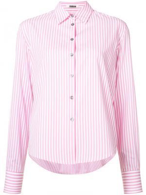Рубашка в полоску Jourden. Цвет: розовый и фиолетовый