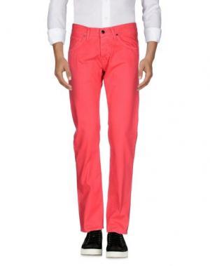 Джинсовые брюки 2 MEN. Цвет: коралловый