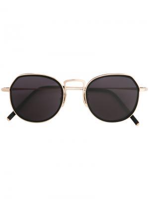 Солнцезащитные очки в двойной оправе Maska. Цвет: чёрный