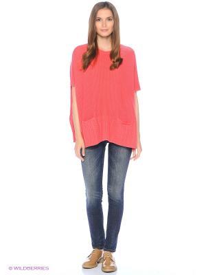 Свитер United Colors of Benetton. Цвет: персиковый, розовый