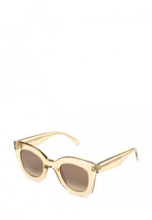 Очки солнцезащитные Celine. Цвет: бежевый