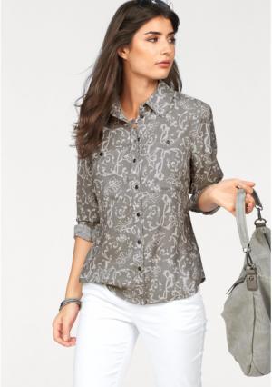Блузка BOYSENS BOYSEN'S. Цвет: серый/белый с рисунком