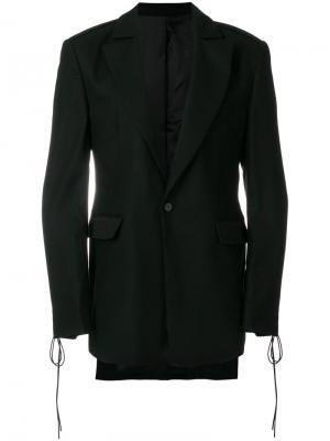 Пиджак с завязками D.Gnak. Цвет: чёрный