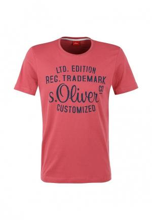 Футболка s.Oliver. Цвет: розовый