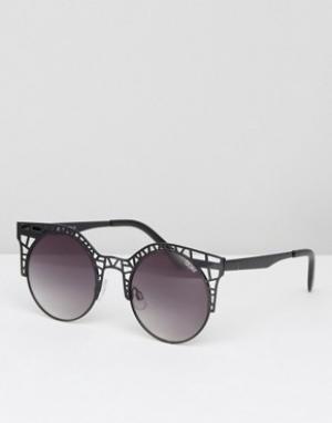 Quay Australia Солнцезащитные очки Fleur. Цвет: черный