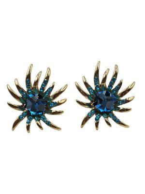 Серьги Taya. Цвет: золотистый, синий